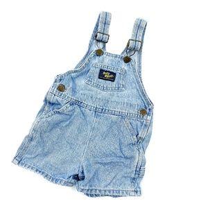 Vtg 90s Baby B'Gosh OshKosh Denim OVeralls Shorts